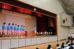 卓球部壮行会1