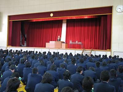 生徒指導部講話